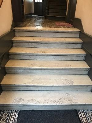 nettoyage escalier après