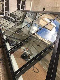 nettoyage toiture en verre