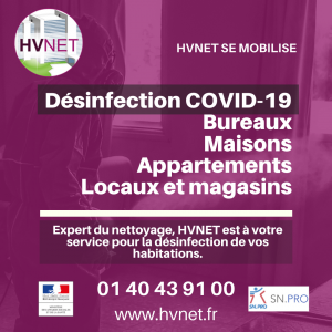 Désinfection covid 19